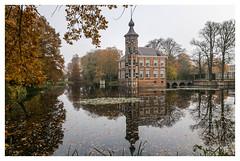 Castle Bouvigne (Mariannevanderwesten) Tags: reflection reflectie bouvigne castle kasteel breda nature natuur nikon water autumncolours herfstkleuren