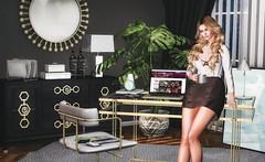 First Coffee please (desiredarkrose) Tags: {vision} fancydecor doux interior slfashion slblog sldecor slinterior homeoffice secondlife avatar furniture
