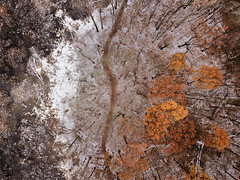 Snow in early November (bill.d) Tags: dji djimavicpro kalamazoocounty michigan portage unitedstates aerialphotography autumn cold drone fall flying gloomy landscape nature outdoor overcast park us
