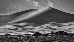 Side-lit Dunes in Death Valley (Jeffrey Sullivan) Tags: valley states death national park sand dunes deathvalley nationalpark california desert usa landscape photography canon eos 70d road trip jeff sullivan photo copyright november 2015 travel unitedstates inyo county blackandwhite