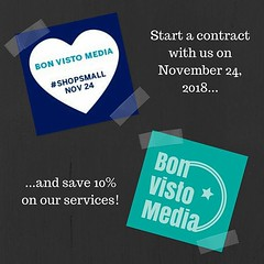 New clients: Start a contract with us on #SmallBusiness mSaturday, November 24, and we'll give you a 10% #discount on our services! Visit www.bonvistomedia.com to sign up. #ShopSmall #savemoney #smallbusiness #startup #marketing #socialmedia #entrepreneur (bonvistomedia) Tags: new clients start contract with us smallbusiness msaturday november 24 well give you 10 discount our services visit wwwbonvistomediacom sign up shopsmall savemoney startup marketing socialmedia entrepreneur girlboss