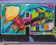 "Detail of ""Welcome to Harlem"" Mural, Graffiti Hall of Fame, East Harlem, New York City (jag9889) Tags: 2018 20181201 bg183 bio detail eastharlem firehydrant graffiti graffitiartist graffitihalloffame how harlem manhattan mural muralist nosm ny nyc newyork newyorkcity nicer outdoor painting sign spanishharlem streetart tagging tatscru text themuralkings usa unitedstates unitedstatesofamerica wall welcome jag9889 welcometoharlem"