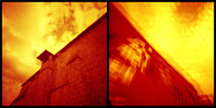 (matériel brouilleur) Tags: diana multi pinhole 120 sténopé lomo lomography redscale ambazac hautevienne eglise church