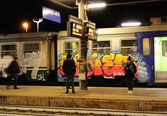 Graffiti train (eru08) Tags: graffititrain train graffiti nikonj1