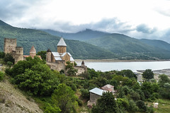 The Fortress of Ananuri (MikeTheExplorer) Tags: ananuri georgia caucasus asia travel traveling traveler wanderlust explore discover nikon nikond3100 dslr camera landscape mountain mountains lake castle fortress church churches light contrast color colorful colors