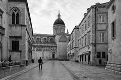 Morning walk (michael.mu) Tags: 35mm croatia dubrovnik leica m240 summicron leicasummicronm1235mmasph streetphotography bw blackandwhite cathedral church