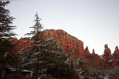 IMG_2863 (Karen Wilson Hagy) Tags: sedona redrocks oakcreekcanyon snow desert muledeer antlers clouds arizona