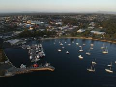 Ulladulla sunrise (Harlz_) Tags: ulladulla nsw australia sunrise djispark drone photography harbour fishingboats trawlers landscape town country yachts
