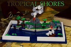 Tropical Shores (Brick.Ninja) Tags: lego popup book ocean sea island pirate pirates trapical jungle ship volcano trees ideas contest moc creation toy stilllife photography