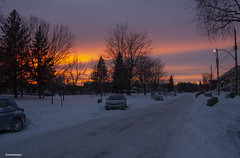 cold sunset colors (Lou Musacchio) Tags: atmosphere sky sunset cityscape skycolors nature montreal quebec canada