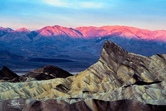 Manly Beacon at Sunrise (TierraCosmos) Tags: manlybeacon alpenglow zabriskiepoint sunrise landscape deathvalley deathvalleynationalpark nationalpark california desert morning scenic geology mountain rock erosion