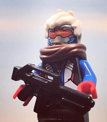 Lego Overwatch: Solider 76 (Bastet Challenge Appearence) (AJV Films) Tags: overwatch lego minifig toy solider 76 brickarms