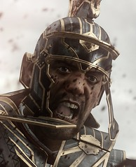 """""""Battle rage"""" (L1netty) Tags: rysesonofrome ryse crytek pc game gaming pcgaming videogame reshade screenshot 4k character marius warrior centurion man male people portrait closeup face helmet blood color white"""