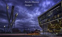 Porsche Museum Stuttgart (Fotomanufaktur.lb) Tags: porsche zuffenhausen museum auto automuseum schölkopf schoelkopf canon hdr eos6d badenwürttemberg deutschland abend nacht wolken clouds