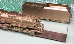 HO Scale Brass Model Shipping Brackets for Large Steam Locomotives made at Samhongsa Korea (Twin Ports Rail History) Tags: jeff lemke trains inc brass model train professional services pro custom paint painted painting weathering repairs soldering modifications cleaning railroad railroading railway ho o s scale scales rolling stock freight passenger cars steam diesel electric engine locomotive selling consignment sell buy buying wwwjefflemketrainscom usa