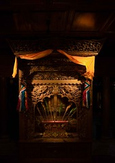Tibetan House Shrine (Rod Waddington) Tags: china culture cultural yunnan shangrila tibetan house shrine wood wooden buddhist buddhism traditional ethnic ethnicity indoor home