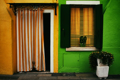 [Colorful] Yin and Yang (Marta Marcato) Tags: colorful yellow green minimalism light night color colors flowers curtain home house building venice burano venezia italy italia nikond7200 outdoor wall