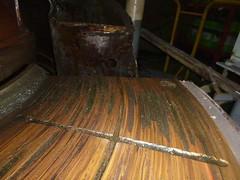 Resize of P1360528 (OpalStream) Tags: rudder marine vessel repair works overhauling workshop measurements filler gauge dirt