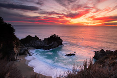 Forgive many things in others; nothing in yourself… (ferpectshotz) Tags: mcwayfalls bigsur pacificcoasthighway pacificcoast sunset water cove waves surf beach waterfall juliapfeifferburnsstatepark westcoast outdoor landscape vivid creek