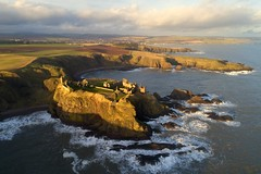Dunnottar Castle (iancowe) Tags: dunnottar castle stonehaven aberdeenshire cliff clifftop cliffs scotland scottish drone dji phantom 4 pro sea waves winter dunnottarcastle aerial