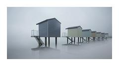 The Outlook (Lindi m) Tags: beachhuts heybridge essex misty hightide foggy poorvisibility seascape
