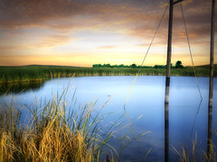 Country pond 8 (mrbillt6) Tags: landscape rural prairie pond waters pole grass outdoors country countryside northdakota photoart peaceful fall relaxing