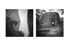 Racconti Dentro Una Cornice (Vincenzo Caniparoli) Tags: analog argentique analogico bw blackandwithe biancoenero black dittico diptych diptich dittici dyptich dipthyc emotive film holga holga6x6 holgagcfn holga120 holgan holgacamera holaga120 kodak kodaktrix kodakmicrodolx lomo lomography monochrome monocromo medioformato mediumformat microdolx oristano photography paesaggio paesaggioumanizzato photographyclass sardegna sardinia trix nuraghe nuraghelosa nurahi nurakis