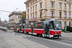 BRN_1215_201811 (Tram Photos) Tags: ckd tatra t6a5 brno brünn strasenbahn tram tramway tramvaj tramwaj mhd šalina dopravnípodnikměstabrna dpmb