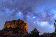 One Starry Night (Carl Cohen_Pics) Tags: courthousebutte sedona stars stella estrella night nature naturephotography nightphotography nightsky redrocks arizona milkyway canon canon7dmarkii sigma sigma1835mm18dchsmartlens