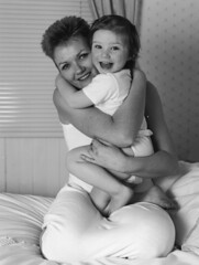 Portrait (col1803) Tags: pentax67ii portrait people film agfaapx100 darkroom mother daughter