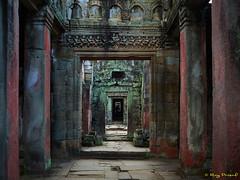 Angkor Thom – 22 (Roy Prasad) Tags: green cambodia asia khmer travel architecture temple angkorwat prasad royprasad hindu buddhist ruins ancient phaseone xf schenider passage walkway corridor rock stone building