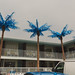 Four Plastic Palm Trees
