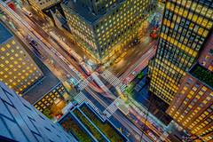 Busy Intersection | NYC (EugeneClassyAlbum) Tags: manhattan nyc newyork newyorklife ny newyorkcity newyorkphotography night neonlight nightlight nightstreet birdseyeview bigapple sony sonya7 sonyphotography