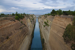The Korinthos Canal (n.pantazis) Tags: outdoors pentaxks2 day cloudy bridge canal