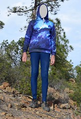 Tenerife - Hiking at Vilaflor (wetmuddy) Tags: outdoor fun tenerife teneriffa hiking wandern spandex lycra pantyhose strumpfhose medias tights mountain vilaflor sweatshirt blue leggings bike pant