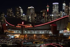Calgary At Night (Margarita Genkova) Tags: architecture buildings saddledome canada alberta colors calgarytower night calgary