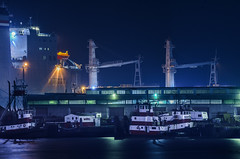 baycat tug harbor (pbo31) Tags: sanfrancisco california nikon d810 color night city november 2018 boury pbo31 southbeach sail boat tug ship service 50 pier port harbor mist