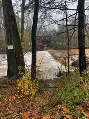 Flood # 5 (phthaloblu) Tags: flood5 rain flood nc northcarolina guilfordcounty mcleansville rivertrackroad waterfall