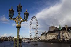Noria (jaocana76) Tags: noria londoneye waterloo westminster londres london thames tamesis rio river bridge puente canoneos7d canon1635 jaocana76 england inglaterra europa countyhall