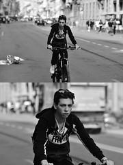 [La Mia Città][Pedala] (Urca) Tags: milano italia 2018 bicicletta pedalare ciclista ritrattostradale portrait dittico bike nikondigitale séta biancoenero blackandwhite bn bw 117218