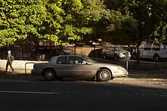 Mercury Cougar (Curtis Gregory Perry) Tags: portland oregon mercury cougar 1995 1996 1997 downtown pax car automobile tree light shadow sun nikon pedestrian driver automóvil coche carro vehículo مركبة veículo fahrzeug automobil