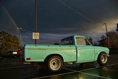 A truck load of luck! (djerniganphoto) Tags: driving datsun drive travel truck trinidad trip california cars classic cruising clouds sunset sky ocean outdoors minitruck nissan nature landscape pnw