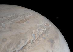 Io Rising (NASA's Marshall Space Flight Center) Tags: nasa marshall space flight center msfc jet propulsion laboratory jpl solar system juno jupiter planets io moon
