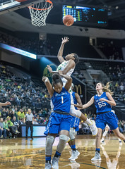 Air Force grounded as Ducks take flight (Al Case) Tags: oregon ducks womens basketball oti gildon nikon d750 university pac12 ncaa college sports al case 50mm f18g nikkor matthew knight arena