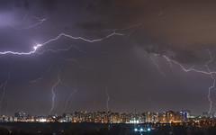Electric Show 1 (Alex Savenok) Tags: lightning thunder show night landscape israel israelnature longexposure centralisrael light weatherwinter weather d610 citysky