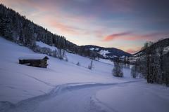 Niederau, Tirol Mountains, Austria (Phil Spalding) Tags: austria ski skiing snowboard snowboarding snowy snow frost tirol niederau auffach wildschönau sunset sunrise cool cold blue pink pinksky canon 6d l 24105