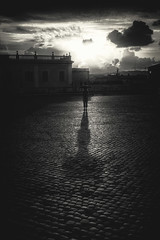 A break in the clouds... (8230This&That) Tags: europe italy mediteranean rome art culture history street streetpeople roma clouds stormclouds rain cobblestone shadow sunburst sun abreakintheclouds lazio it