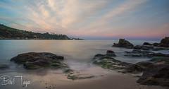 Ain achir beach (Bilel Tayar) Tags: seacape sea landscape beach rocks algeria annaba sky clouds rocheux rocher long longexposure poselongue exterieur soir coucherdesoleil mer mediteranée mediteranean