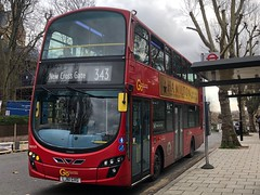 Rare working B5LH on the scenic route to New Cross | Go-Ahead London Volvo Gemini 2 B5LH on the 343 to New Cross Gate, Jerningham Road. (alexpeak24) Tags: telegraphhill newcrossjerninghamroad cityhall 343 goaheadlondon b5lh volvogemini2 oddworking