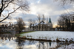 First snow. Feodorovsky small town. (fedoseenko) Tags: санктпетербург россия красота colour природа beauty blissful loveliness beautiful saintpetersburg sunny art shine dazzling light russia day park peace blue white голубой небо лазурный color sky pretty sun пейзаж landscape clouds view heaven mood serene golden gold colours picture road tree grass nature alley trees walkway field outdoors old d800 wood path winter snow water reflection cloud sanctuary lake feodorovsky осень autumn 24120mmf3556d building architecture